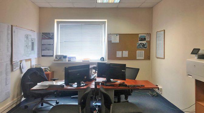 przestronne wnętrze biura do wynajmu we Wrocławiu