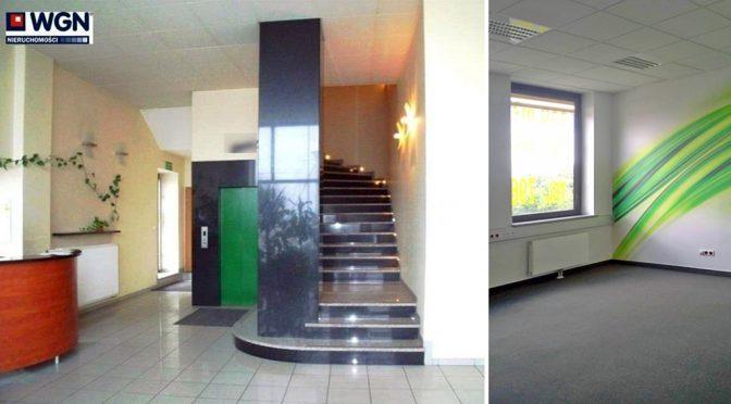 prestiżowe wnętrze budynku we Wrocławiu, w którym znajduje się oferowane na wynajem biuro