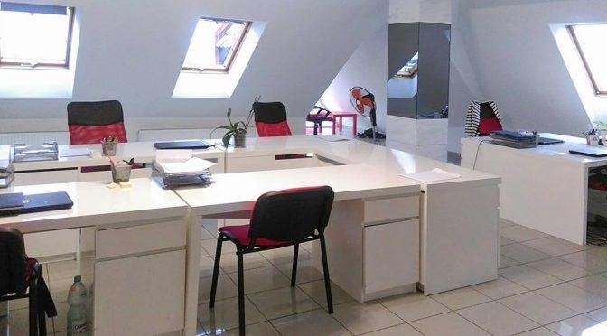 nowoczesne wnętrze biura na wynajem we Wrocławiu