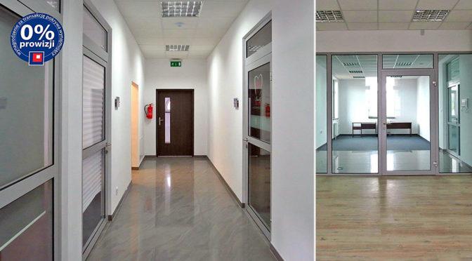 nowoczesny korytarz przy biurze do wynajęcia Wrocław